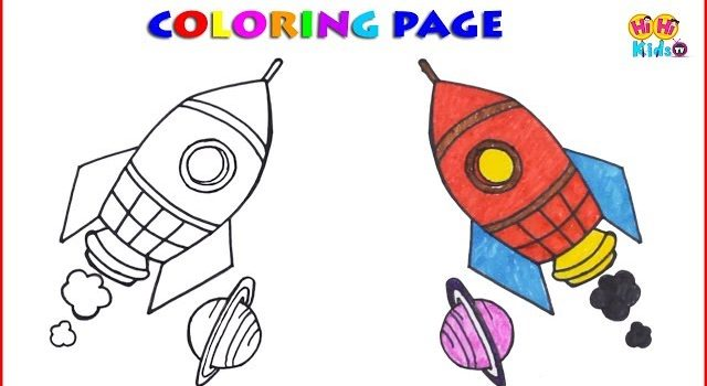 640x350 Download Save Thumbnail How To Draw A Rocket Ship, Cartoon For Kids