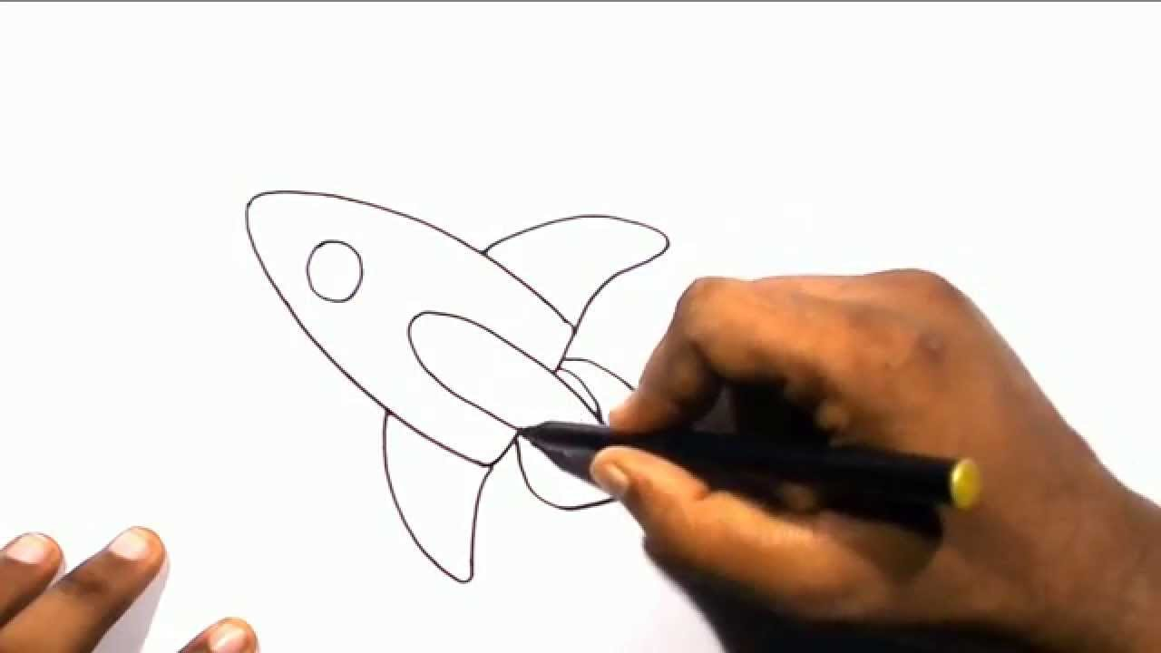1280x720 How To Draw A Rocket Ship