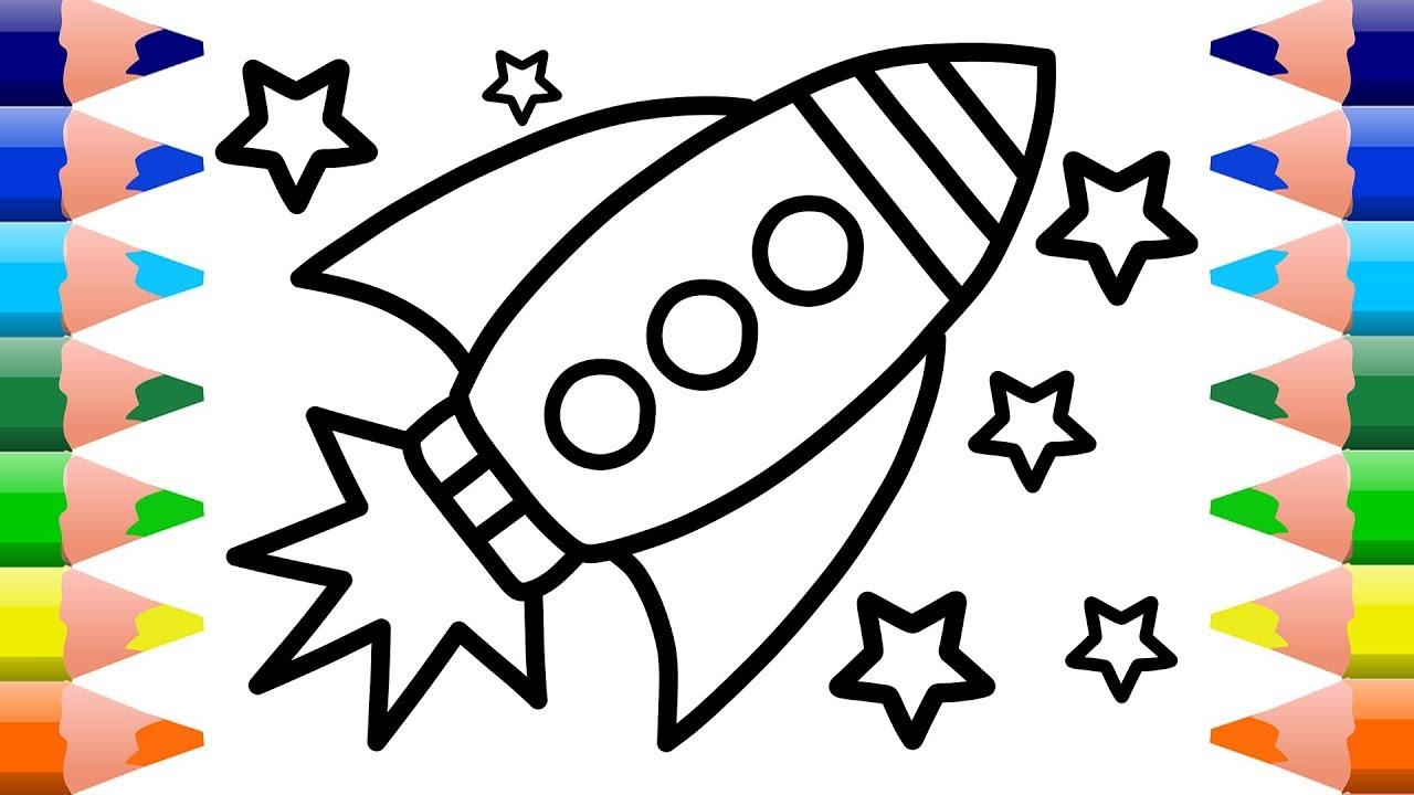 1280x720 Pleasant Design Ideas Rocket Ship Coloring Pages Boat Page