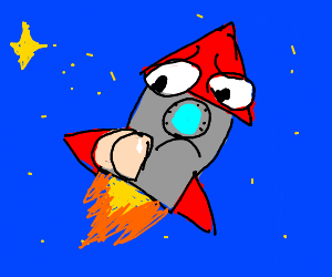 300x250 Rocket Ship With Bad Butt