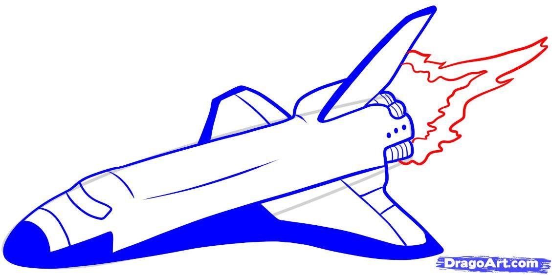 1129x564 Rocket Ship Drawing