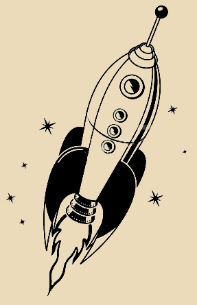 287x445 I Love The Old School Vibe Of This Rocket Ship, And I'D Like