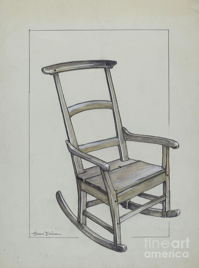 670x900 Chair Drawing By Florence Truelson