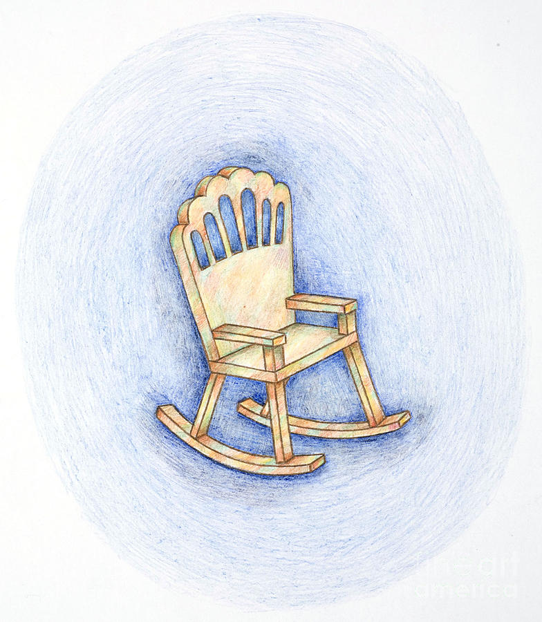 784x900 Rocking Chair Drawing By Joy Calonico
