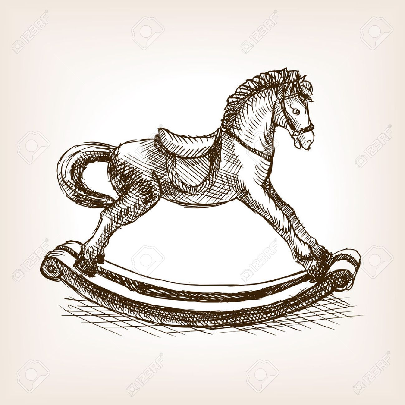 Rocking Horse Drawing at GetDrawings.com | Free for personal ...