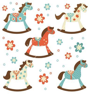 380x400 Rocking Horses Vector 1311882