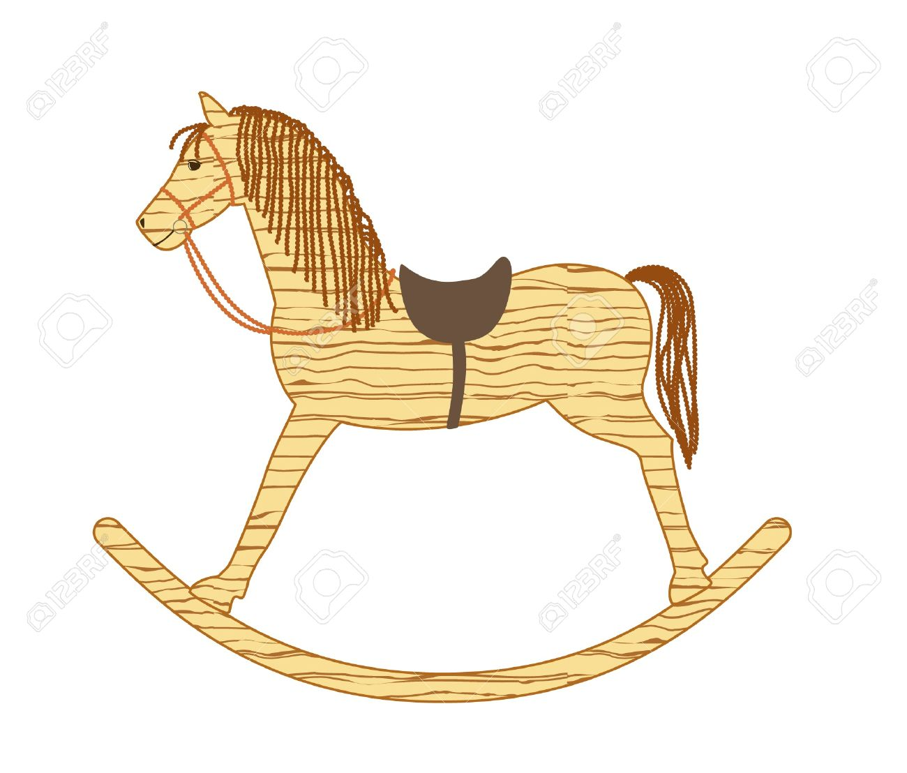 1300x1108 Wooden Rocking Horse Royalty Free Cliparts, Vectors, And Stock