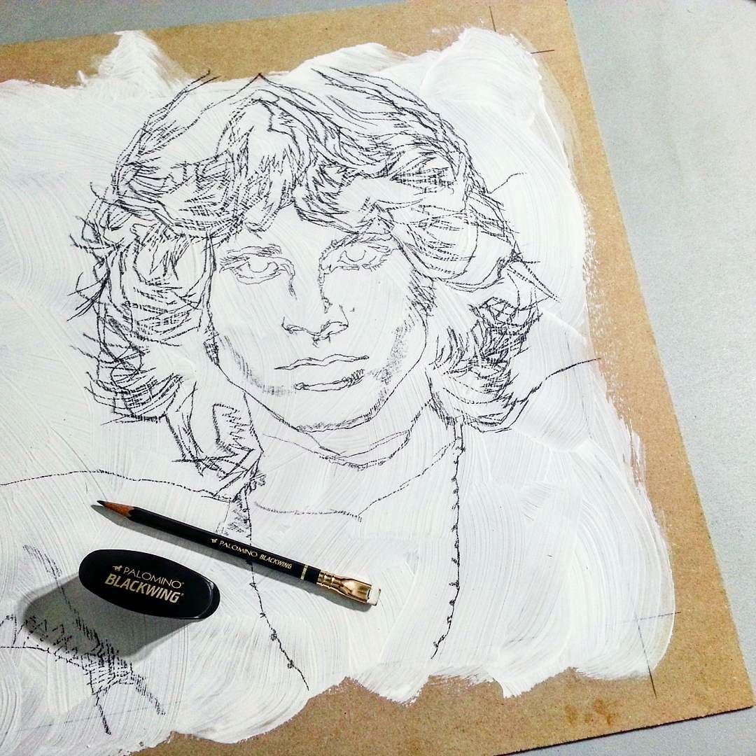 1080x1080 Classic Rockstar. Drawing On Mdf Board. Canosard's Instagram
