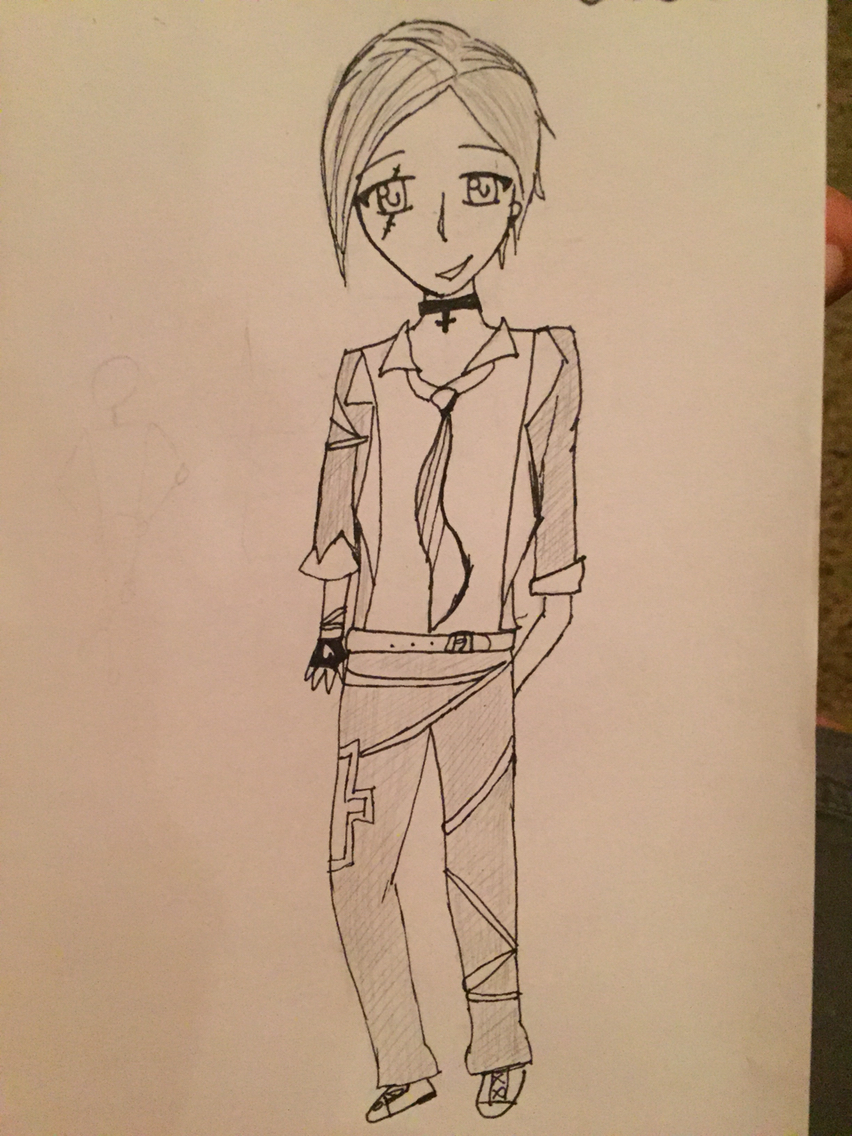852x1136 Cute Anime Rockstar Boy Drawing My Drawings Anime