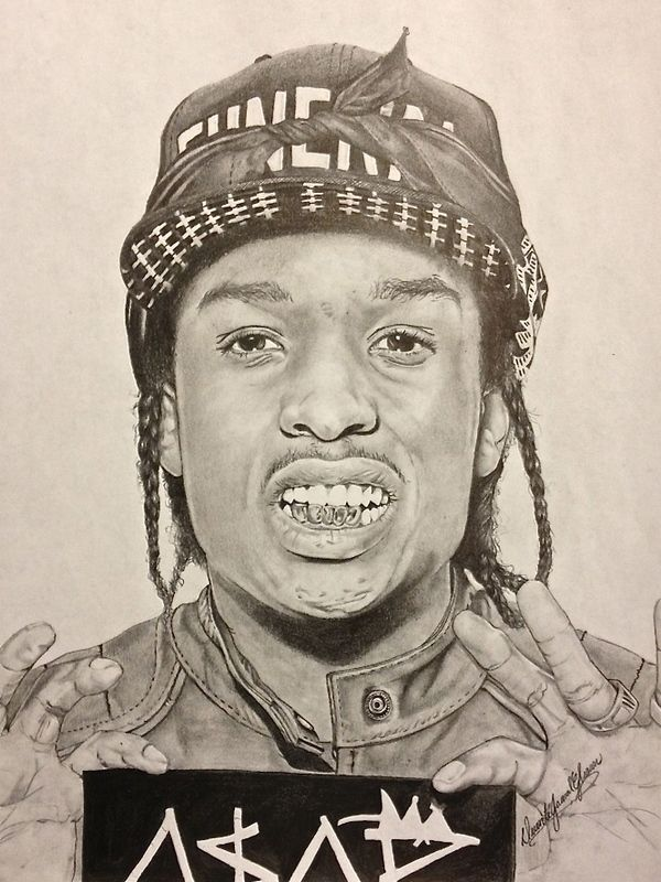 600x800 Asap Rocky Drawing Lt3 A$vpp Drawings Compositions