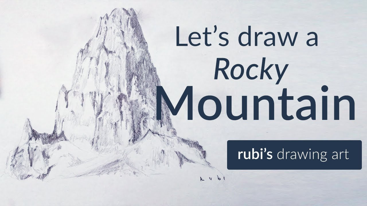 1280x720 Drawing A Rocky Mountain How To Pencil Drawing
