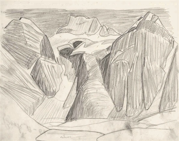 596x470 Rocky Mountain Drawing 9