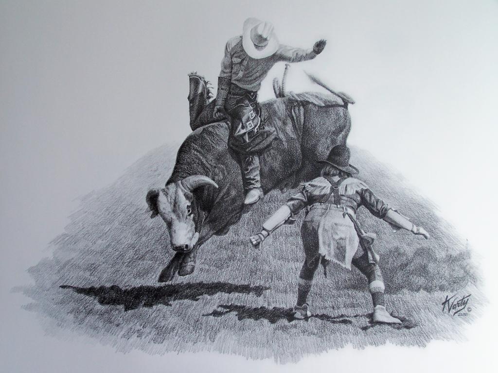 1024x768 Bull Riding Drawings Bull Riders By Kevin Varty