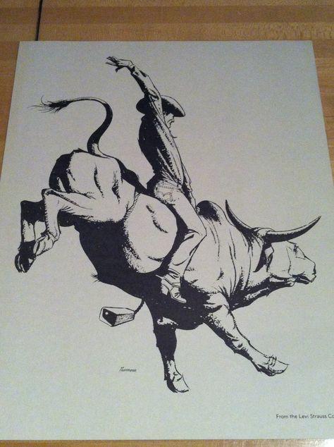 474x634 Bull Riding Drawings Cowboys Amp Rodeo