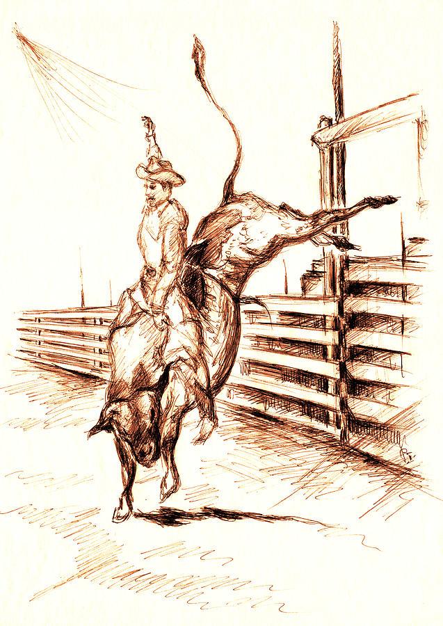 637x900 Western Rodeo Bull Ride