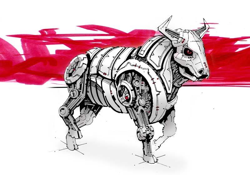 800x561 Robot Bull Thread Dsg 1060 Sci Ficreature Mechanical Bull