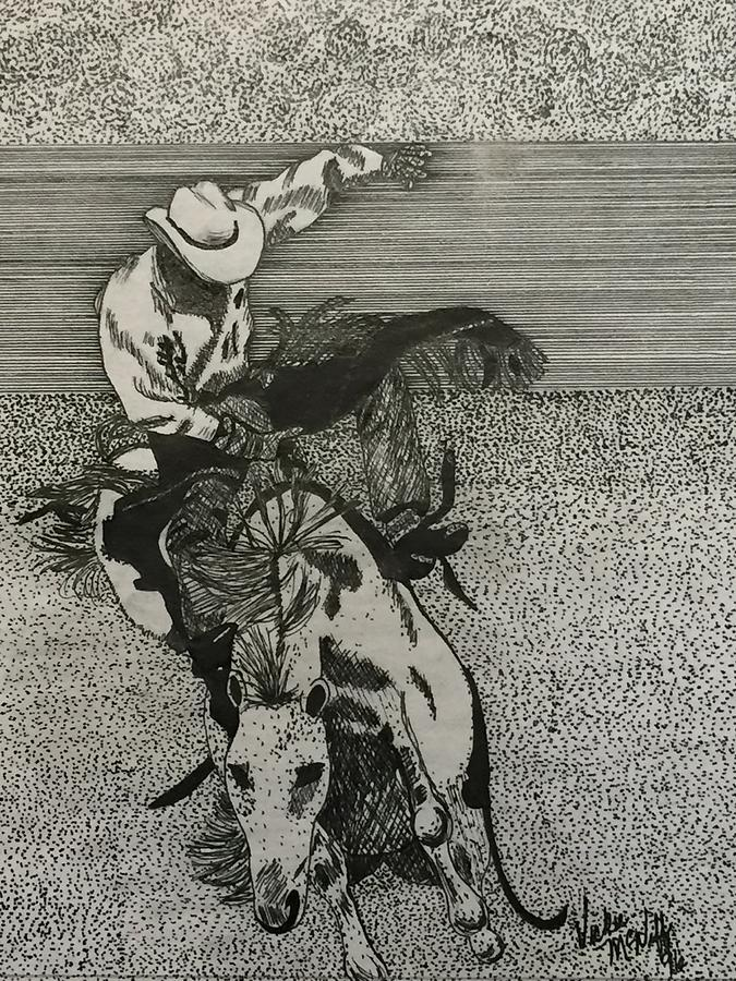 675x900 Rodeo Drawing By Vickie Sperling