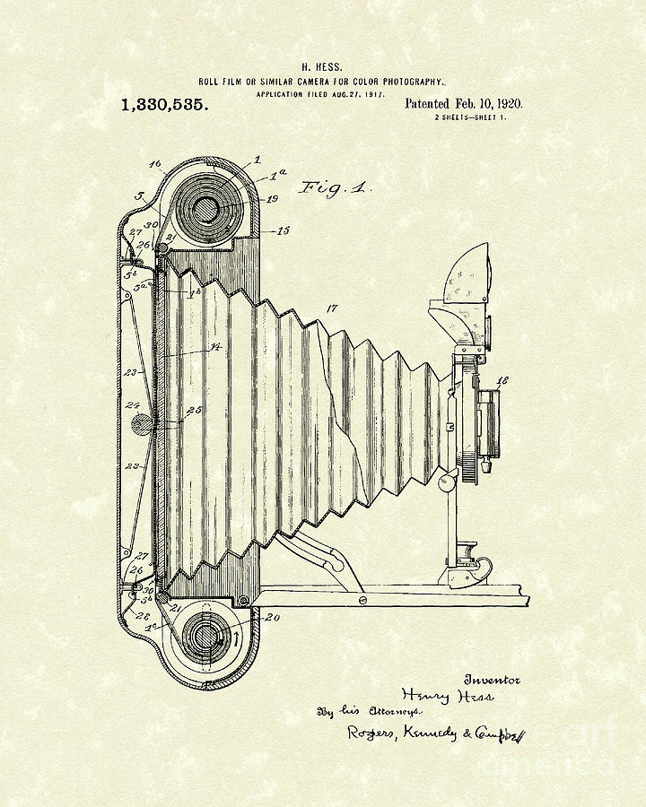 720x900 Camera 1920 Patent Art Drawing By Prior Art Design