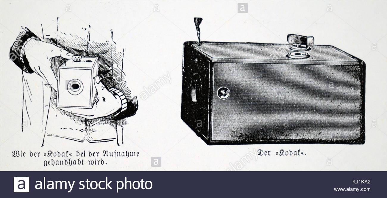 1300x666 Engraving Depicting A Kodak Box Which Used Eastman Negative Film