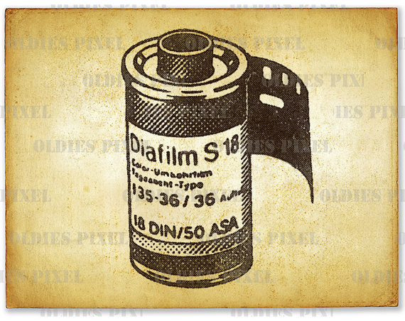 570x452 Vintage Camera Roll Film Line Art Illustration Hand Drawing