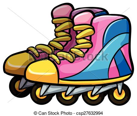 450x381 Pair Of Rollerskates With Four Wheels Eps Vectors