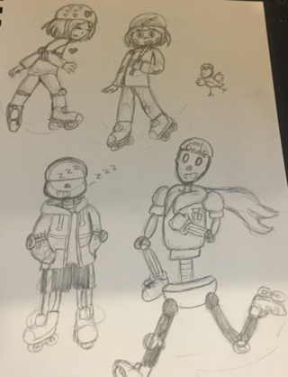 320x418 Rollerblades Drawings On Paigeeworld. Pictures Of Rollerblades