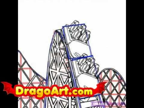 480x360 How To Draw A Roller Coaster, Step By Step
