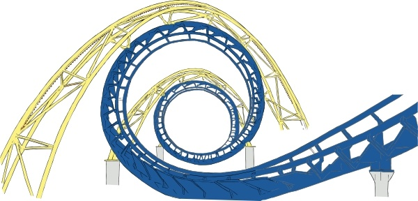 600x288 Roller Coaster Tracks Clip Art Free Vector In Open Office Drawing