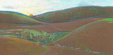 450x220 Stunning Rolling Hills Drawings And Illustrations For Sale