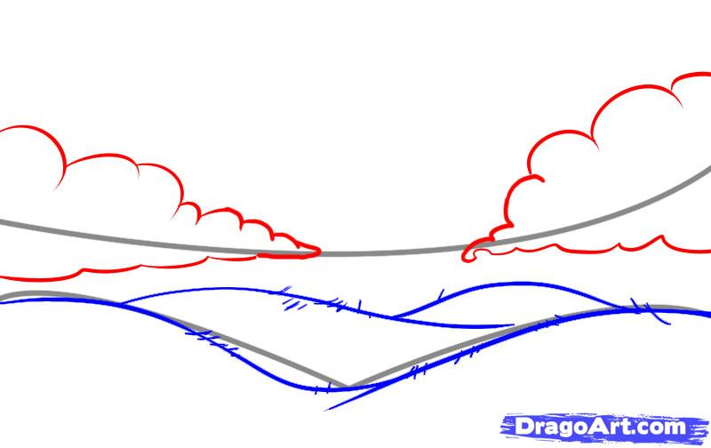 800x504 How To Draw Rolling Hills