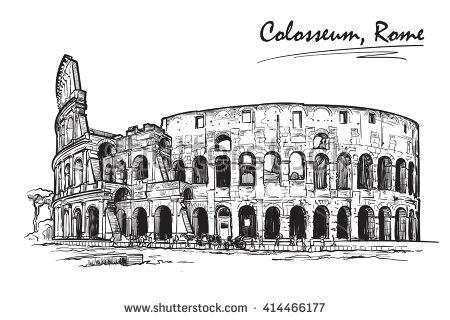 450x320 Roman Architecture Drawing