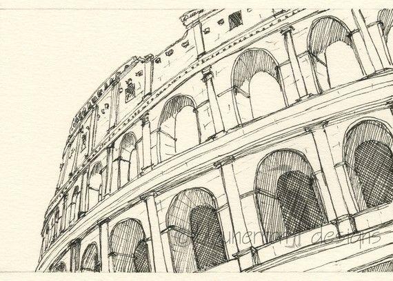 570x407 Rome Italy Sketch