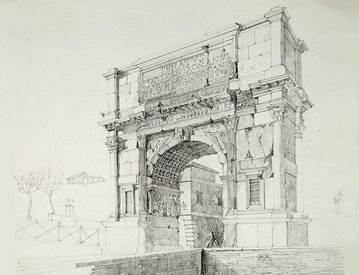 522x400 Roman Architectural Sketches Roman Arches Drawings Art