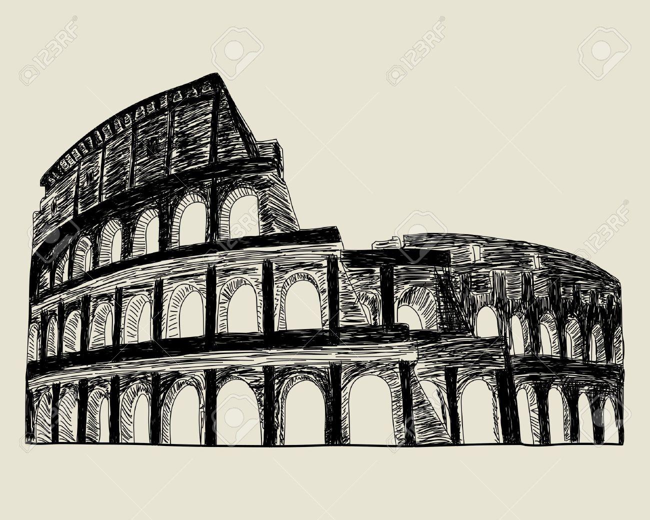 Roman Colosseum Drawing At GetDrawings.com