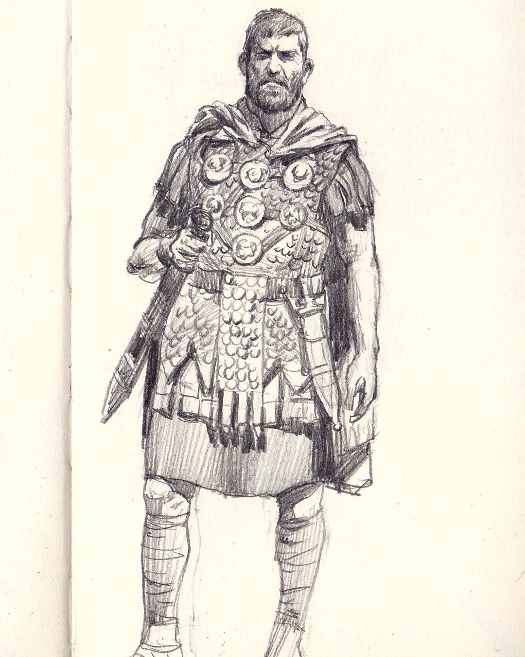 1080x1350 An Old Roman Soldier Sketch.