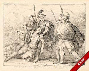 300x240 Fallen Soldier Of The Roman Legion Drawing Painting Art Real
