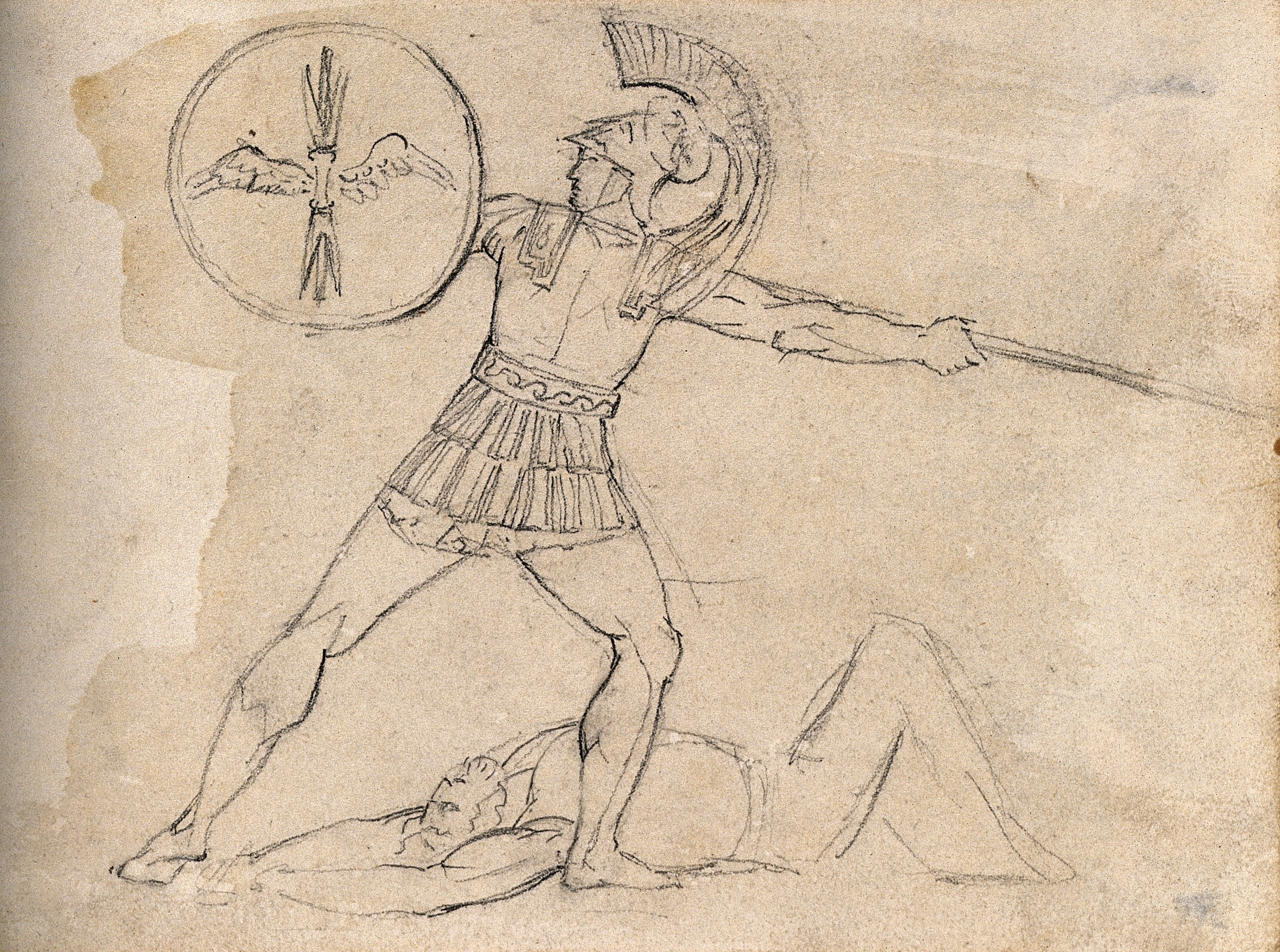 3224x2400 Filea Roman Soldier Throws A Javelin Over A Dead Body. Drawing