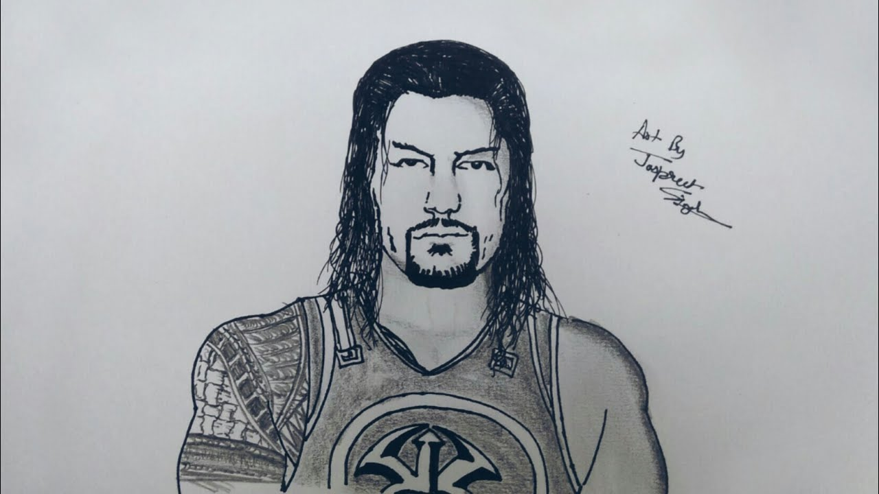 1280x720 How To Draw Roman Reigns Amp John Cena Mr. Artist