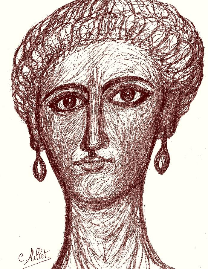 696x900 Portrait Of Ancient Roman Woman Inspired From Portraits Of Fayum