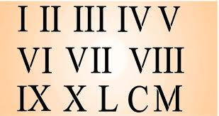 309x163 Roman Numeral Numbers Drawing