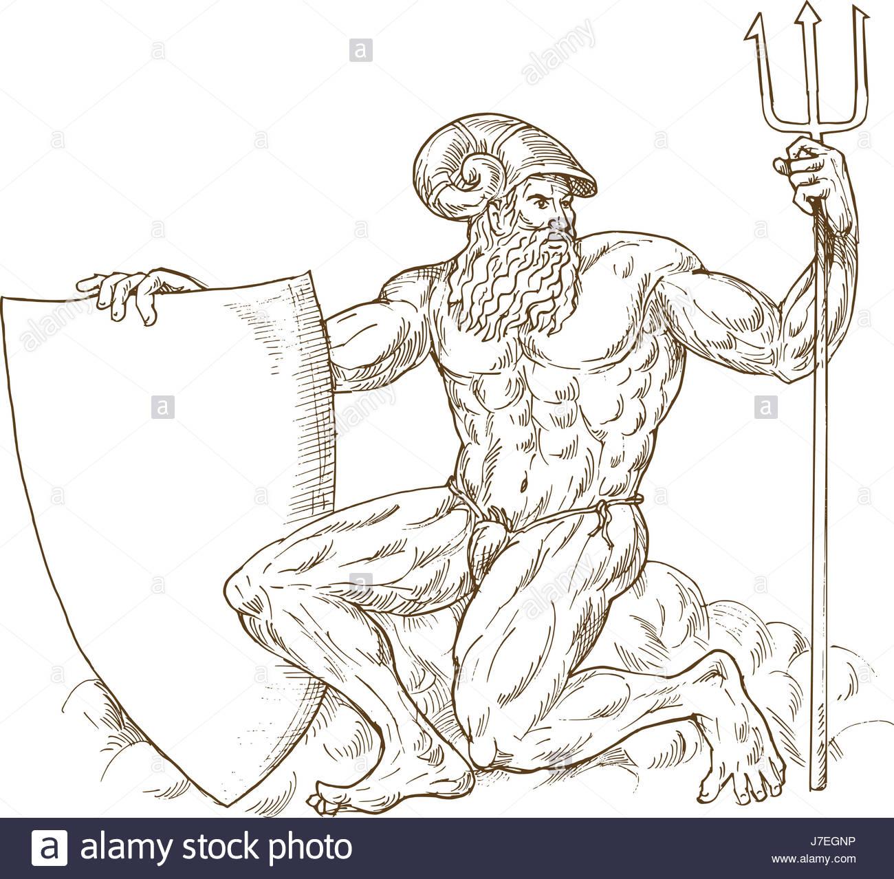 1300x1278 God Drawing Photo Picture Image Copy Deduction Roman Trident