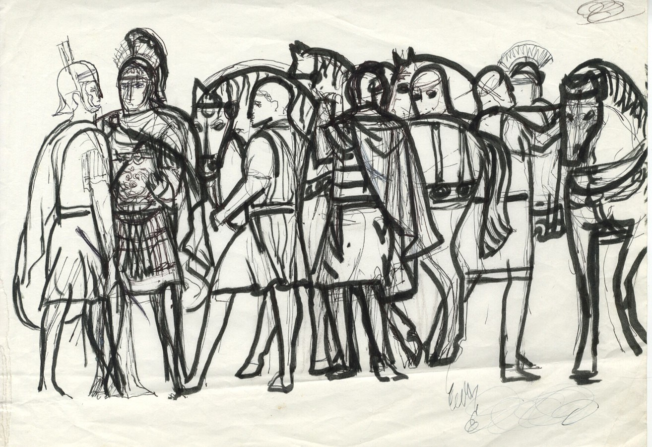 1314x900 Mid 20th Century Pen And Ink Drawing