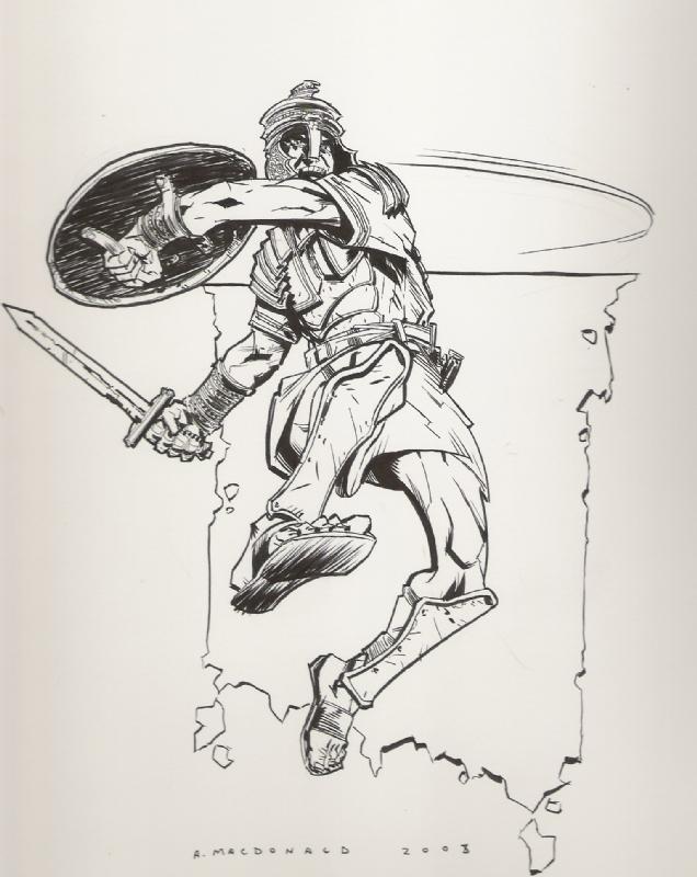 636x800 Roman Soldier, In Ray Blanco's Andy Macdonald Comic Art Gallery Room