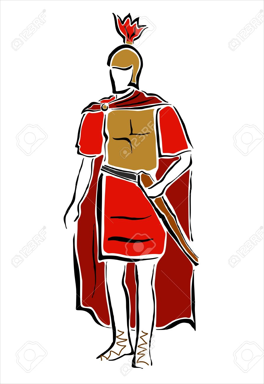 893x1300 Drawing Of A Roman Soldier Royalty Free Cliparts, Vectors,
