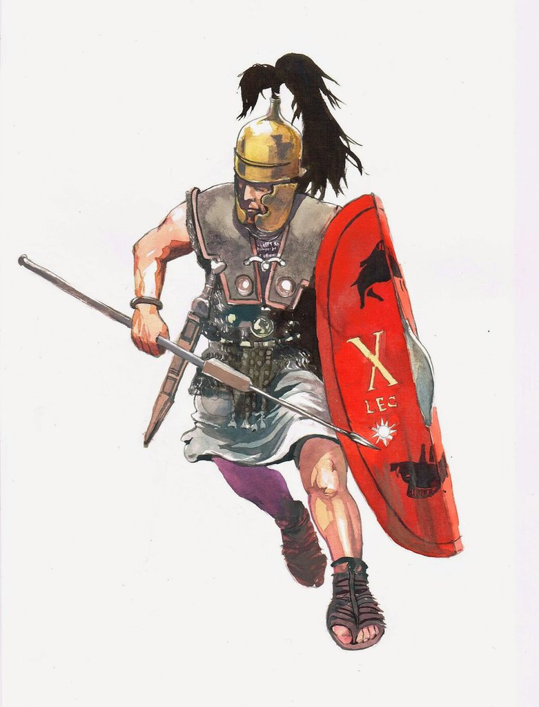 781x1024 Roman Legionary Legio X Triarii By Pegasusandco