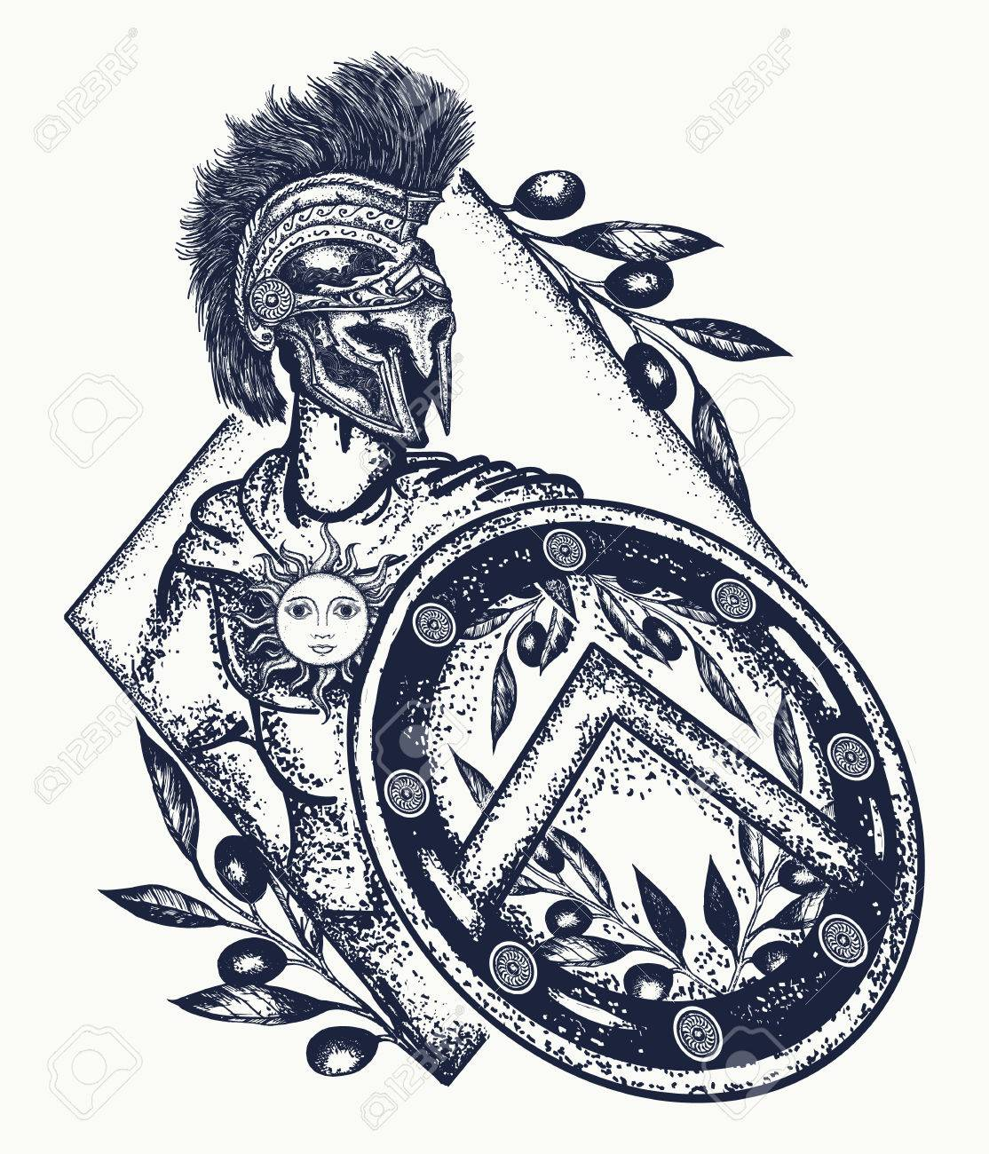 1114x1300 Spartan Warrior Tattoo Art. Legionary Of Ancient Rome And Ancient