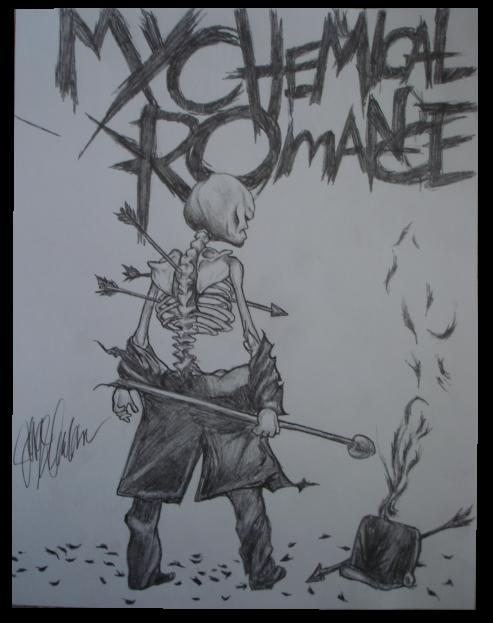 493x623 My Chemical Romance Drawing By Darkroomanimations