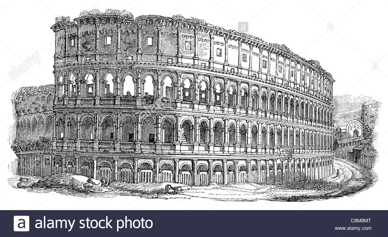 Rome Colosseum Drawing At GetDrawings.com