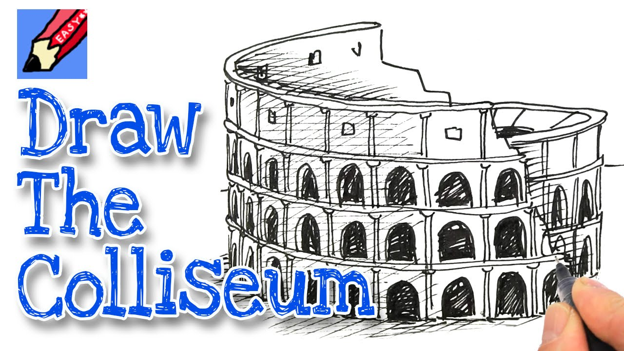 1280x720 How To Draw The Coliseum Real Easy Art And Inspiration