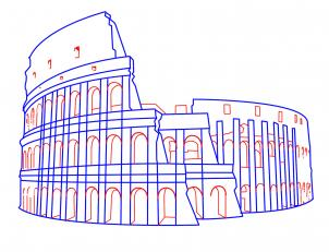 302x231 How To Draw The Colosseum Step By Step Tutorial, Rome, Italy